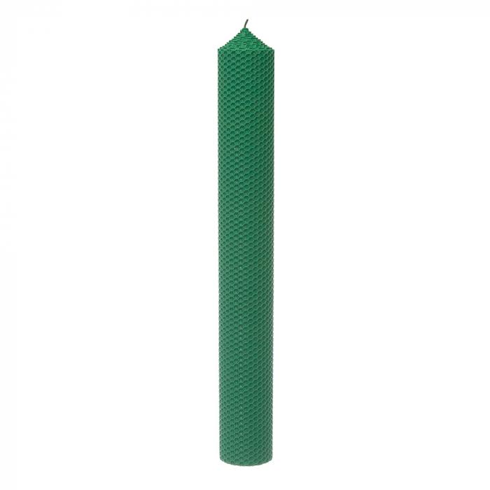 Lumanari ceara naturala H42 D5.5 cm verde [0]