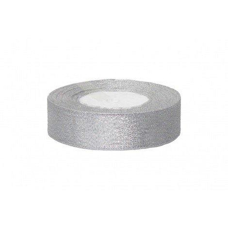Rola saten 2.5 cm argintiu [0]