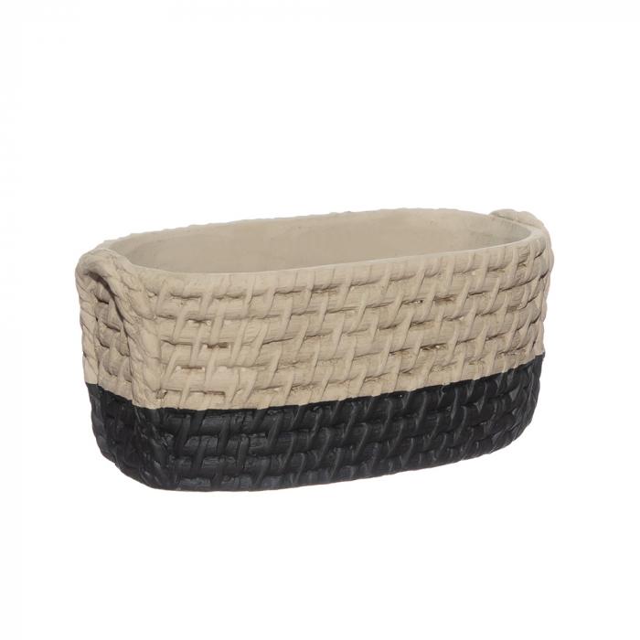 Vas ceramic oval bicolor [0]