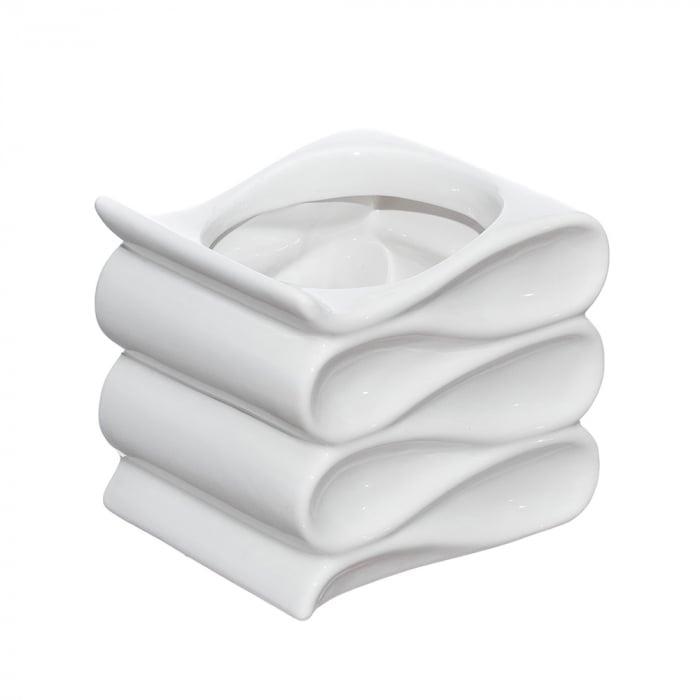 Vas ceramic wave alb 16 cm [0]