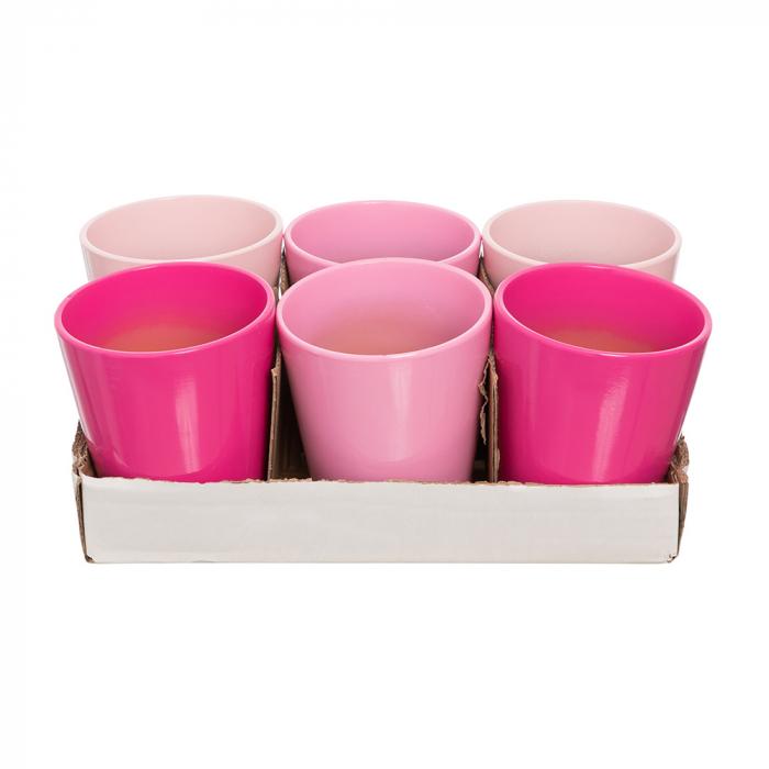 Vase ceramica orhidee mix roz [0]
