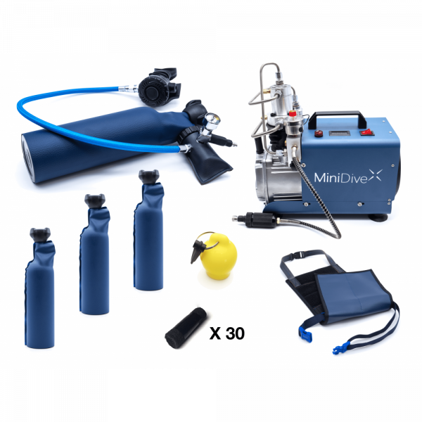 MiniDive Pro+ (0,8 L) + MiniComp + Harness + 3 Tanks (0,8 L) + Accessories 0