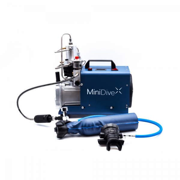 MiniDive Pro+ (0,8 L) + MiniComp + Harness + 3 Tanks (0,8 L) + Accessories 10