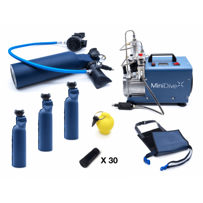 MiniDive Pro+ (0,8 L) + MiniComp + Harness + 3 Tanks (0,8 L) + Accessories0