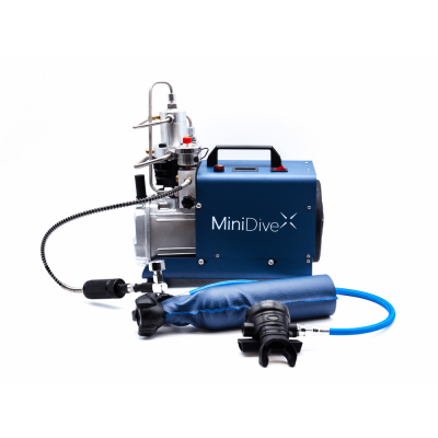 MiniDive Pro+ (0,8 L) + MiniComp + Harness + 3 Tanks (0,8 L) + Accessories10