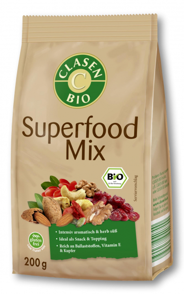Amestec bio Superfood din merisor, nuci, migdale, seminte si goji Clasen Bio [0]