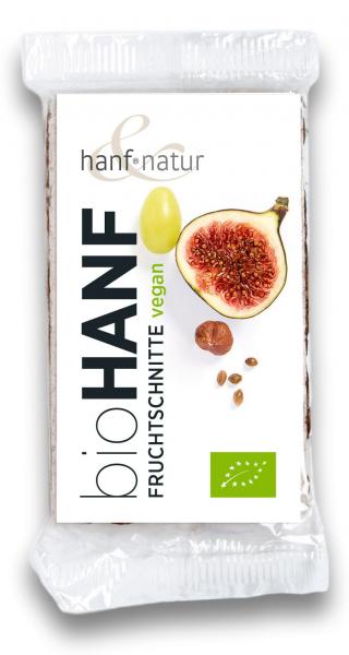 Baton cu fructe si seminte de canepa bio Hanf & Natur [0]