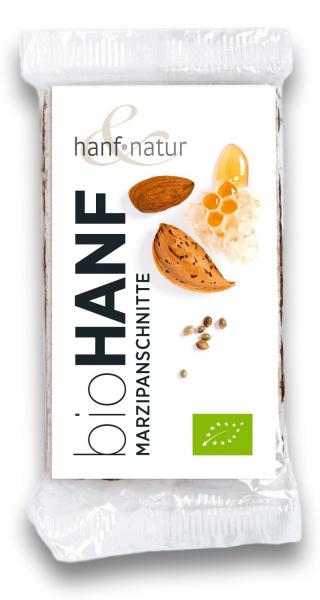 Baton cu martipan si seminte de canepa bio Hanf & Natur [0]