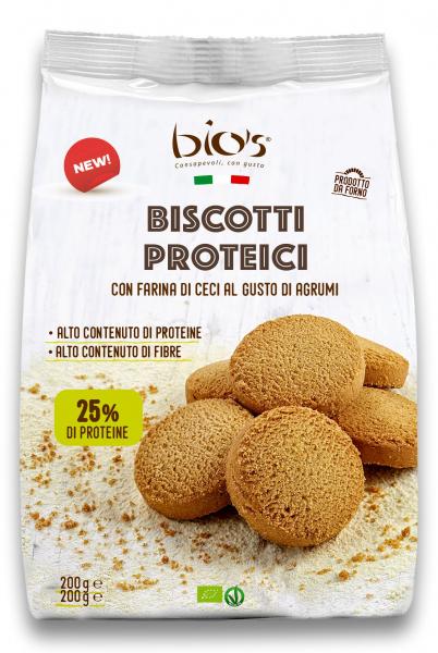 Biscuiti bio proteici cu gust de citrice Bio's [0]