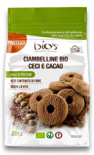 Biscuiti bio rotunzi din naut si cacao Bio's [0]