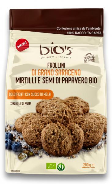 Biscuiti bio rotunzi fara zahar din hrisca, afine si seminte mac Bio's [0]