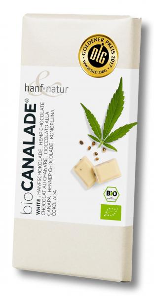 Ciocolata alba bio cu seminte de canepa Hanf & Natur [0]