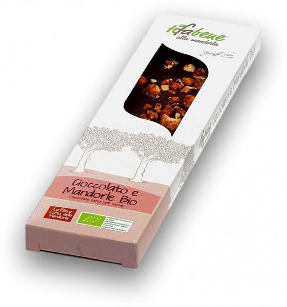 Ciocolata bio cu 74% cacao si migdale Tifabene [0]
