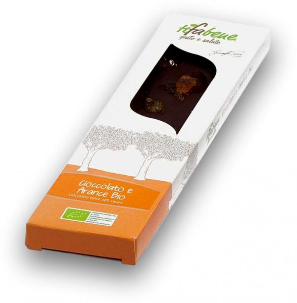 Ciocolata bio cu 74% cacao si portocale Tifabene [0]