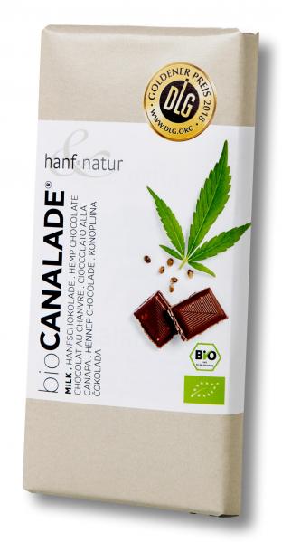 Ciocolata bio cu lapte si seminte de canepa Hanf & Natur [0]