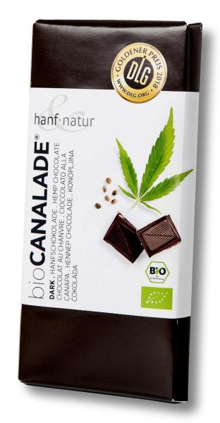 Ciocolata neagra 70% bio cu seminte de canepa Hanf & Natur [0]