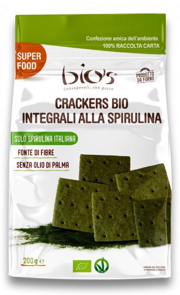 Crackers bio din grau integral, sare de Cervia si spirulina Bio's [0]