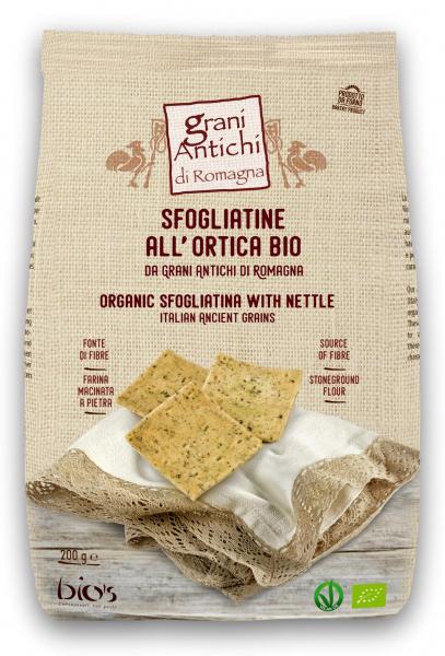 Crackers bio fara drojdie din grau antic, urzica si ulei masline Grani Antichi [0]