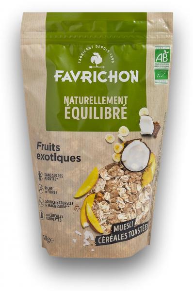 Musli bio cu cereale prajite si fructe exotice Favrichon [0]