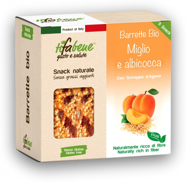 Pachet 5 batoane din mei bio cu fructe caise si sirop agave Tifabene [0]