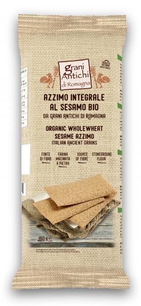 Paine azima bio din grau antic integral, seminte susan si ulei masline Grani Antichi [0]