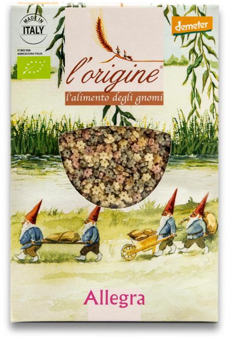 Paste pentru supa, bio demeter Allegra din grau dur si legume  Tradizioni Padane [0]