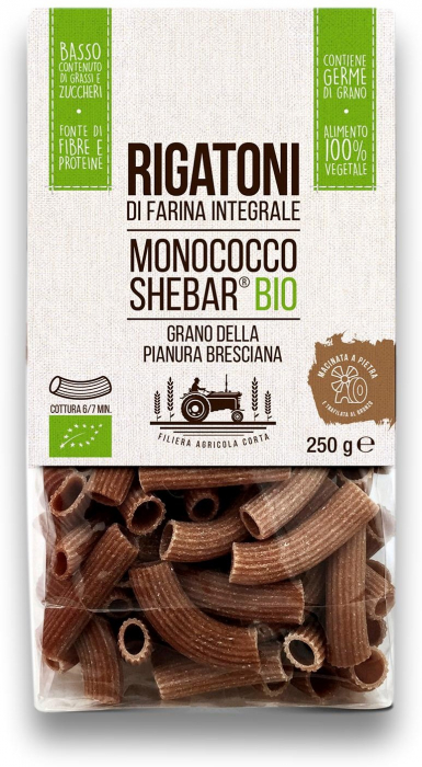Paste rigatoni bio din grau alac Shebar® Tradizioni Padane [0]
