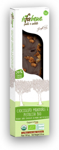 Ciocolata bio cu 74% cacao, migdale si fistic Tifabene [1]