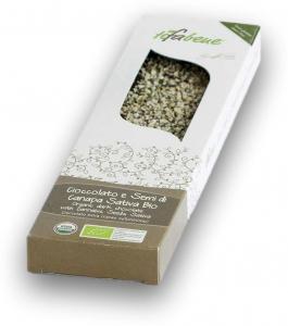Ciocolata bio cu 74% cacao si seminte de canepa Tifabene [0]