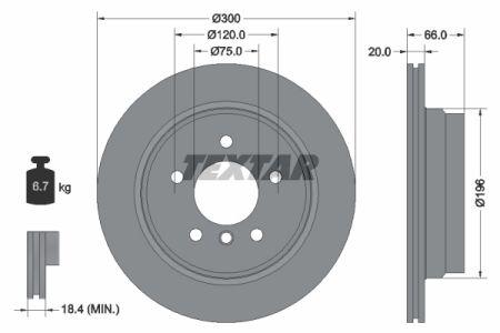 Disc frana spate TEXTAR T92154903 [0]