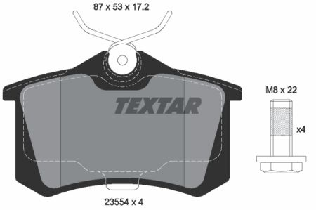 Placute frana spate TEXTAR T2355402 0