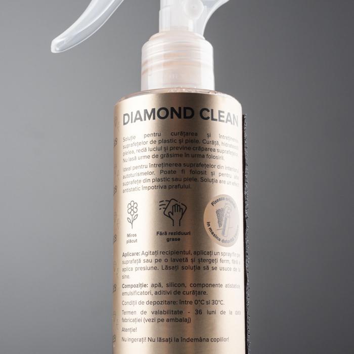 99Vehicles Diamond Clean - Soluție profesională pentru întreținerea suprafețelor din plastic și din piele 3