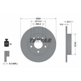 Disc frana spate TEXTAR T92092103 0