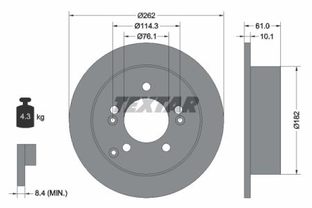 DISC FRANA SPATE TEXTAR T92156803 0