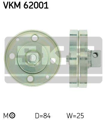 Rola ghidaj SKF VKM62001 0