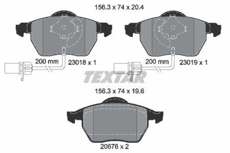 Placute frana fata TEXTAR T2301802 [0]