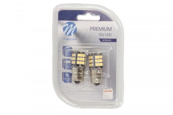 SET BEC LED P21W 12V M-TECH - CAN-Bus - fara eroare de bec ars - LB354W [1]