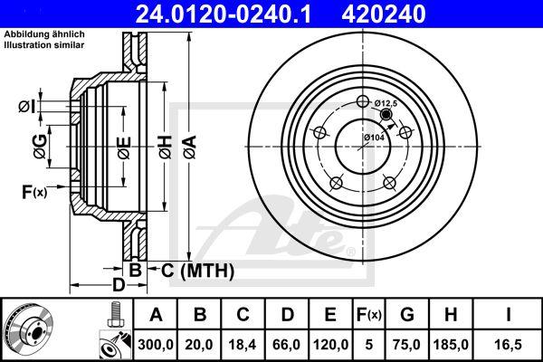 DISC FRANA SPATE ATE 24.0120-0240.1 0