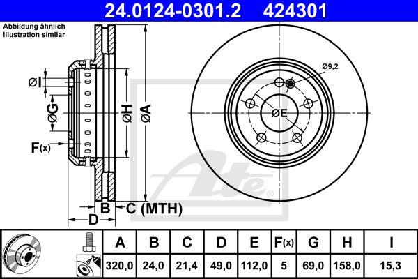 DISC FRANA SPATE ATE 24.0124-0301.2 [0]