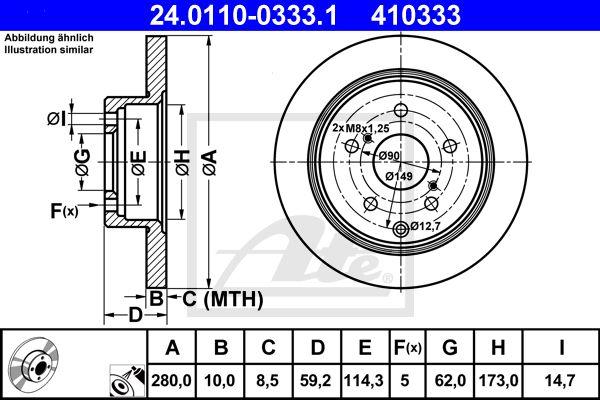 DISC FRANA SPATE ATE 24.0110-0333.1 [0]