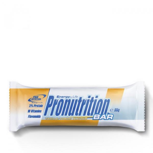 Baton proteic energizant 55gr Vanilie Pronutrition bar 0
