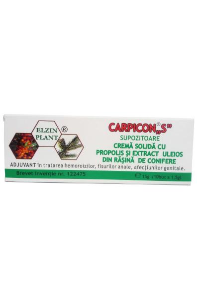 Carpicon S - supozitoare - Elzinplant, 10 x 1 gr 0