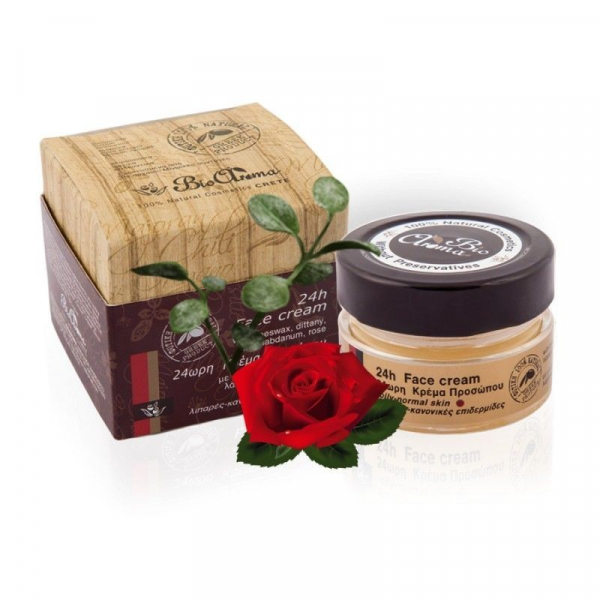 Crema fata 24h ten gras-normal cu ceara albine, dictam, labdanum, damask rose 40 ml 0