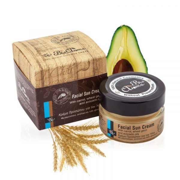 Crema Protectie Solara cu germeni grau si avocado 100% naturala 40 ml 0