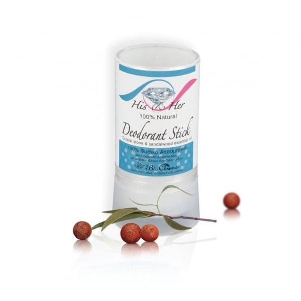 Deodorant antiperspirant natural - Piata de Alaun si Lemn de Santal 120 gr 0