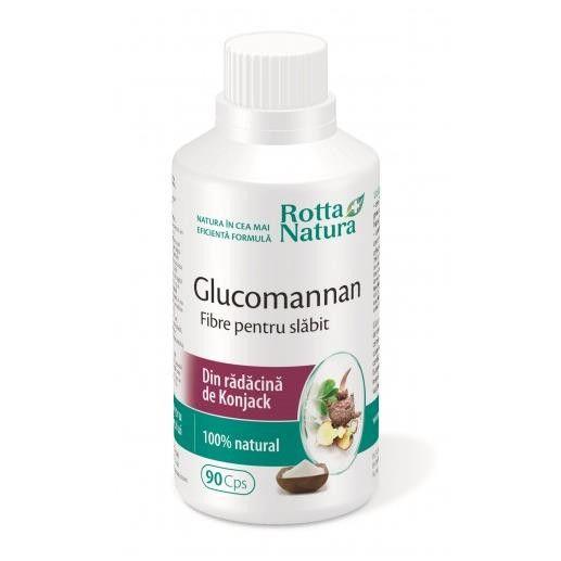 Glucomannanul  Fibre pentru slabit 90 cps Rotta Natura 0