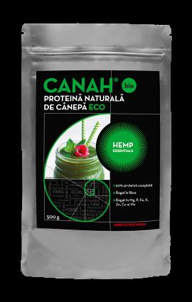 Pudra Proteică de cânepă Hemp Essentials 500 G Canah [0]