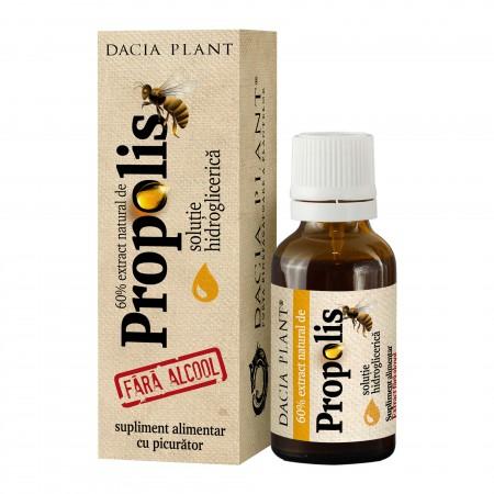 Propolis tinctura fara alcool cu picurator - 20 ml - Dacia Plant 0