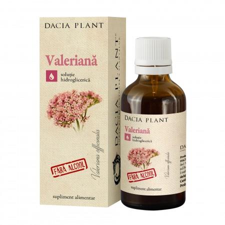 Tinctura de valeriana fara alcool 50 ml Dacia Plant 0