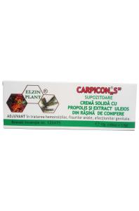 Carpicon S - supozitoare - Elzinplant, 10 x 1 gr